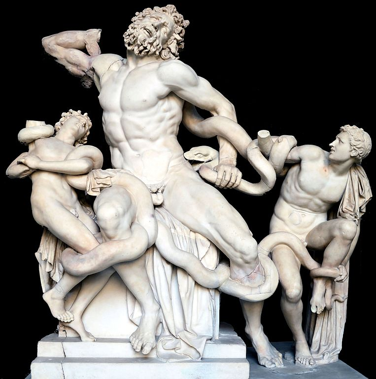Laocoon and His Sons black0