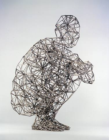 anthony gormley sculpture filaire